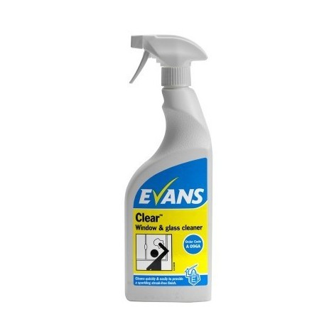 EVANS Clear Glass Cleaner x 750ml Spray