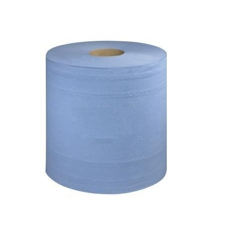 Embossed Blue Centrefeed Wiping Rolls 2ply 6 x 110M