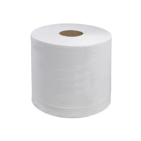 Embossed White Centrefeed Wiping Rolls 2ply 6 x 110M